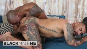 Blackmaleme – Boomer Banks Is Gagging On Max Konnor's Huge Cock Before Taking It Deep In His Ass